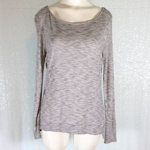Madewell Blouse Long Sleeve Grey Striped sz Small